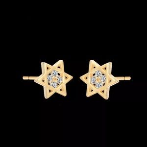 CZ Star of David Studs